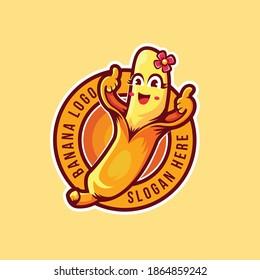abstract thumbs up banana logo template