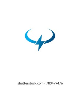 Abstract Thunder Bolt Logo Design Vector Template