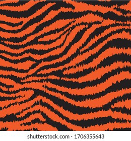 Abstract Tiger Skin Vector Pattern