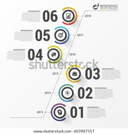 abstract timeline infographic template business concept stock vector