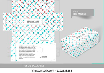 Abstract tissue box concept, template for business purpose, place your text and logos and ready to go for print.