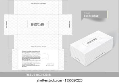 Abstract tissue box concept, template for business purpose, place your text and Logos and ready to go for print