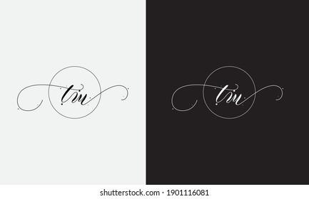 Abstract TM letter initial lettermarks logo design
