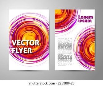 abstract tornado circle vertical brochure set. vector background for your business
