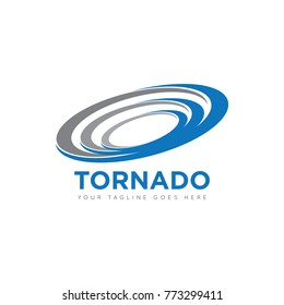 abstract tornado logo, icon design template