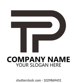 abstract tp logo design on white background, Abstract graphic icon, logo design template, symbol for company name.