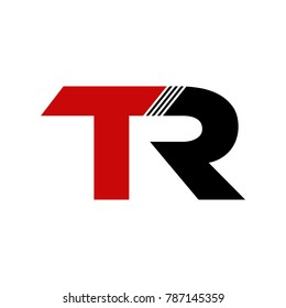 Abstract TR Initials Logo