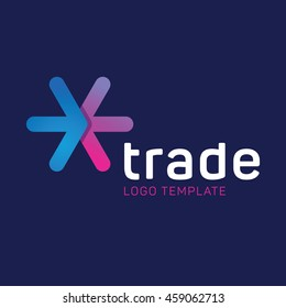 Abstract trade logo