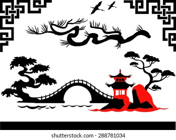 Abstract Traditional Asian Landscape