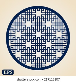 Abstract traditional chinese window pattern