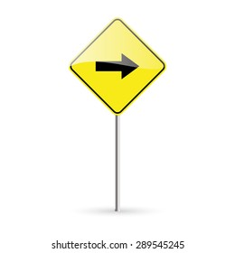 abstract traffic signal on a white background
