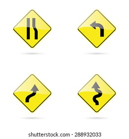 abstract traffic signals on a white background