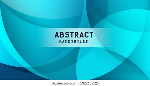 Abstract transparency circle banners on blue background, Vector illustration