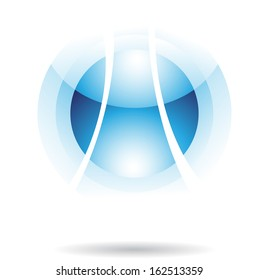 Abstract Transparent Ball Icon