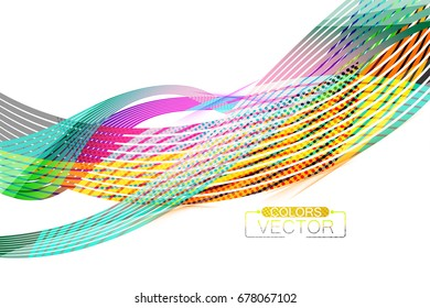 Abstract transparent colors lines scene vector wallpaper on a white background