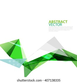 abstract transparent polygonal geometric template, vector illustration