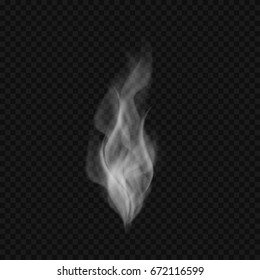 Abstract transparent realistic smoke or vapor. Vector illustration