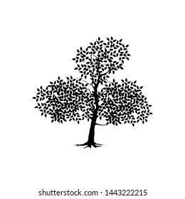 abstract tree ancient vector illustration