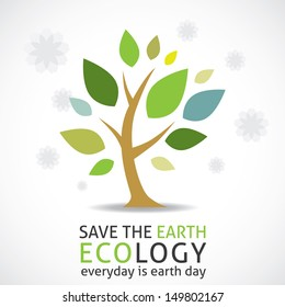 abstract tree (earth day icon)