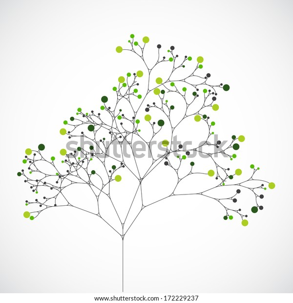 Abstrakter Baum. Ökologischer Hintergrund