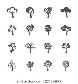 abstract tree icon set, vector eps10.