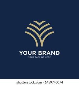 Abstract tree logo design. Logo Design Template EPS 10
