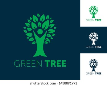 Abstract Tree Logo Vector Illustration
