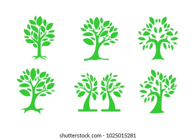 Abstract Tree Natural Icon Vector Design Template