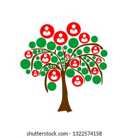 Abstract tree with people or businessman icons. Suitable for business template or wallpaper.