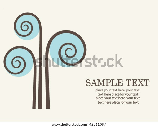 Abstract tree. vector.