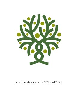 Abstract Tree Vector Logo