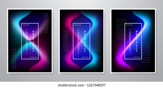 Abstract Trendy Gradient Shapes Background For Mobile Screen, Advertising, Backdrop, Brochure, Cover, Flyer, Invitation, Music Poster, Poster, Wallpaper, And Others
