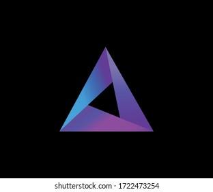 Abstract trendy multicolored logo design