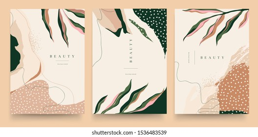 Abstract trendy universal artistic templates. Good for cover, invitation, banner, placard, brochure, poster, card, flyer and other. - Shutterstock ID 1536483539
