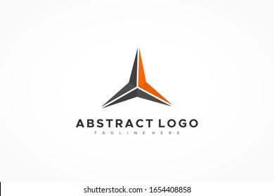 Abstract Triangle Arrow Star Logo. Flat Vector Business Logo Design Template Element.
