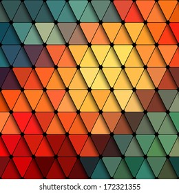 Abstract Triangle Background. Modern Frame Contemporary Pattern. Vector Disco Design