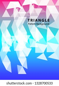 Abstract Triangle Background. Modern Wallpaper. Vector illustration - Vector