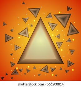 Abstract Triangle Background. Modern Wallpaper. Vector illustration