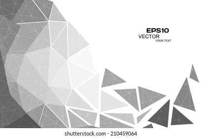Abstract triangle background, vector illustration eps10
