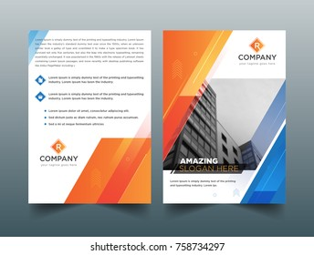 Abstract Triangle Brochure Flyer design vector template in A4 size, Business Brochure. Flyer Design. Leaflets a4 Template. Cover Book and Magazine. Annual Report Vector illustration