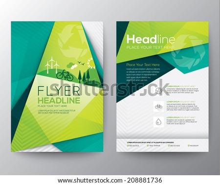 abstract triangle brochure flyer design vector のベクター画像素材