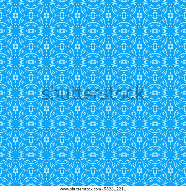 Abstract triangle, circle, line pattern. Seamless geometric ornament. Vector. Geometry shape. For design, wallpaper, presentation
