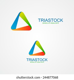 Abstract triangle design logo