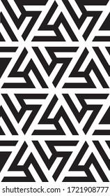 Abstract Triangle Geometrci Pattern in Black
