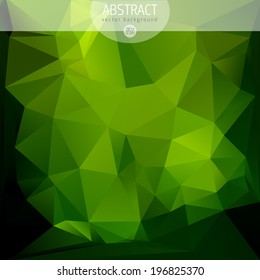 Abstract triangle geometric green background