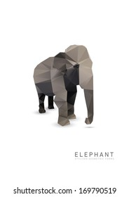 Abstract Triangle Geometrical Elephant Illustration.