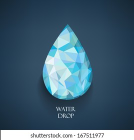 Abstract Triangle Geometrical Multicolored water drop, Vector Illustration EPS10