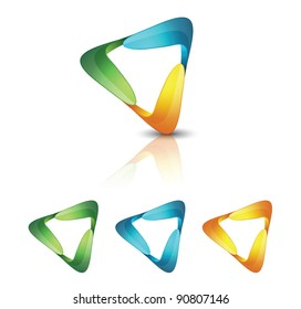 Abstract triangle icons