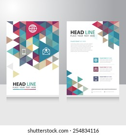 Abstract Triangle internet communication Brochure Flyer design vector template