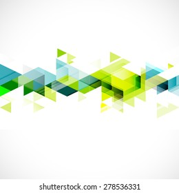 Abstract triangle modern template for business or technology presentation, vector illustration
